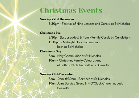 3 Christmas events