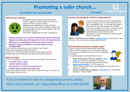 safeguarding poster June 2019
